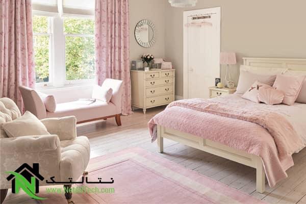 رنگ لطیف در دکوراسیون اتاق خواب