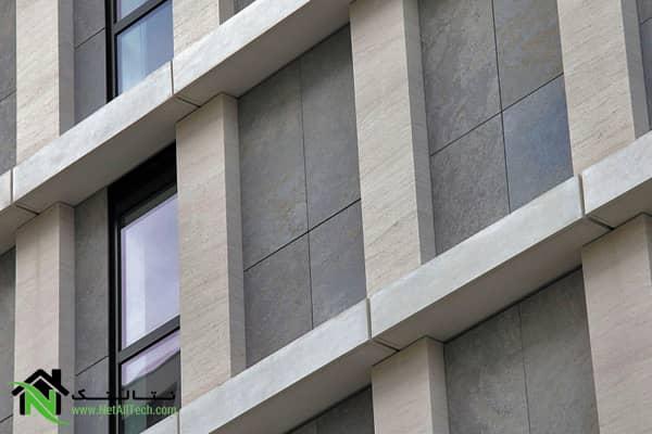 نمای ساختمان سنگین وزن